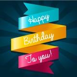 С днем рождения поздравительная открытка Стоковое Фото