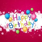С днем рождения поздравительная открытка Стоковое Изображение RF