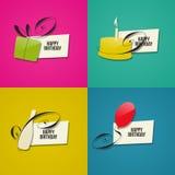 С днем рождения поздравительные открытки Стоковая Фотография RF