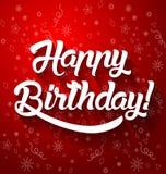 С днем рождения помечать буквами иллюстрацию вектора текста Стоковая Фотография RF