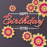 С днем рождения помечающ буквами Стоковое фото RF