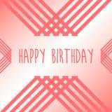 С днем рождения предпосылка карточки геометрического дизайна Стоковое Изображение RF