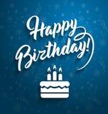 С днем рождения приветствовать текст Стоковая Фотография RF