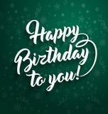С днем рождения приветствовать текст Стоковые Фото