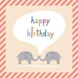 С днем рождения приветствовать card1 Стоковые Фото