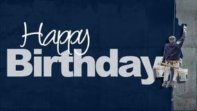 С днем рождения синь стены Стоковые Изображения