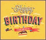 С днем рождения типографский дизайн. Стоковые Фотографии RF
