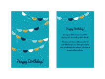 С днем рождения шаблон поздравительной открытки Стоковое Фото