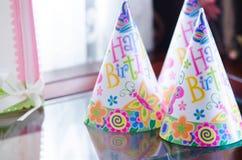 С днем рождения шляпы партии Стоковое Изображение RF