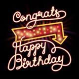 С днем рождения Congrats Стоковые Изображения RF