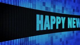 С Новым Годом! бортовая доска знака дисплея с плоским экраном стены СИД скроллинга текста акции видеоматериалы