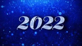2022 С Новым Годом! голубых текстов желает приветствия частиц, приглашение, предпосылку торжества