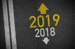 С Новым Годом! изменения изменения Eve 2019 Новых Годов Новый Год изменяет все иллюстрация штока