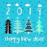 С Новым Годом! иллюстрация вектора современная бесплатная иллюстрация