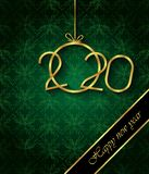 2020 С Новым Годом! предпосылок для ваших сезонных приглашений, праздничных плакатов, поздравительных открыток стоковые изображения rf