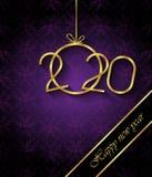 2020 С Новым Годом! предпосылок для ваших сезонных приглашений, праздничных плакатов, поздравительных открыток стоковое изображение