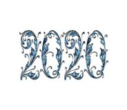 С Новым Годом! PNG влияния 2020 текстов стоковые изображения rf