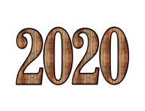 С Новым Годом! PNG влияния 2020 текстов стоковое изображение