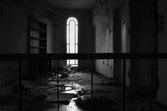 Сдобренное окно и пакостный пол Стоковая Фотография RF