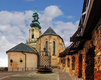 Словакия - замок Nitra на дне Стоковое Изображение RF