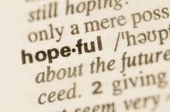 Словарное определение подающего надежды человека слова стоковая фотография rf
