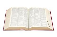словарь открытый Стоковые Изображения