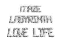 Слова лабиринта Стоковое Изображение RF