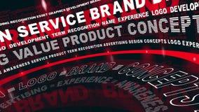 Слова бренда в движении акции видеоматериалы
