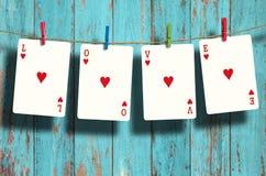Слова ВЛЮБЛЕННОСТИ покера Стоковое Фото