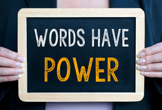Слова имеют силу Стоковое фото RF