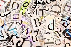 Слова и письма стоковое изображение rf