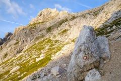Словенская метка следа Стоковое Изображение