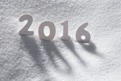 Слово 2016 белого рождества на снеге Стоковые Изображения RF