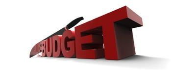 слово бюджета иллюстрация вектора
