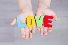 слово вектора сетки влюбленности градиента Стоковое Изображение