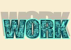Слово вектора & x22; Work& x22; Стоковое Фото