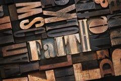 Слово веры деревянное Стоковая Фотография
