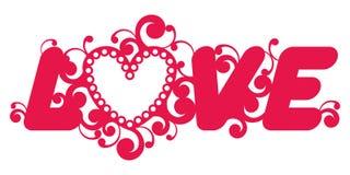 Слово влюбленности. иллюстрация вектора