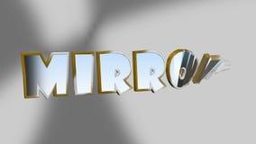Слово зеркала появляется и исчезается иллюстрация вектора