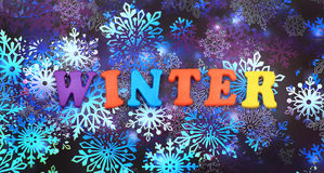 слово зимы Стоковая Фотография RF