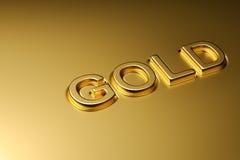 Слово золота выбивает Стоковая Фотография