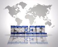 Слово Израиль на предпосылке карты мира иллюстрация вектора