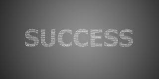 Слово концепции успеха Стоковое Изображение
