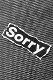 Слово к сожалению Стоковое Изображение RF