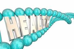 Слово дна здоровья помечает буквами био исследование Medica Стоковое Изображение RF