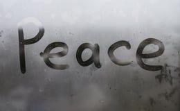 Слово на окне Стоковые Фото