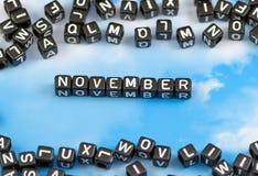 Слово ноябрь Стоковое Фото