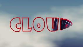 Слово облака появляется и исчезается бесплатная иллюстрация