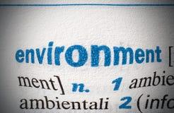 Слово окружающей среды стоковые изображения rf