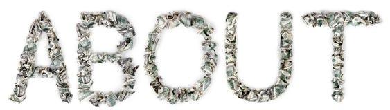 О - гофрированных счетах 100$ Стоковое Изображение